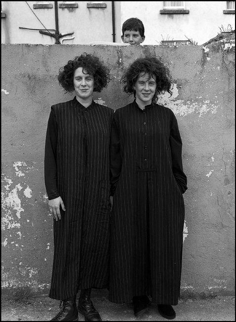 Ferdinando Scianna IRELAND. Connemara. 1993. Fashion shoot for Yamamoto with non-professional models. Sharon and Suzanne McNamara.