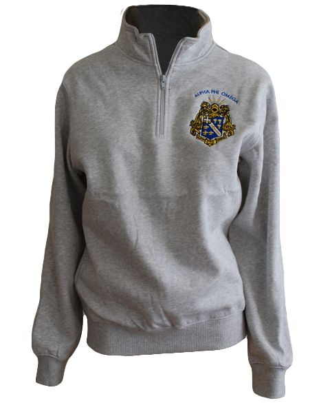 Alpha Phi Omega Crest Pullover by Adam Block Design | Custom Greek Apparel & Sorority Clothes | www.adamblockdesign.com