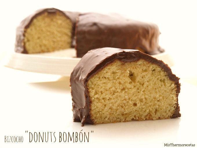 """Bizcocho """"donuts bombón""""   Recetas Thermomix   MisThermorecetas"""