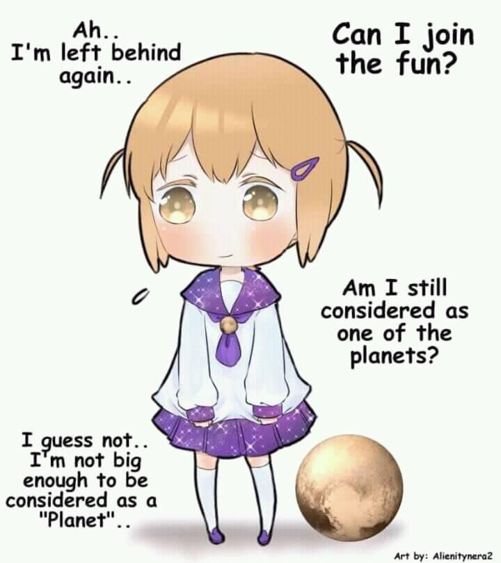 Little Pluto Chan Anime Galaxy Anime Version Space Anime