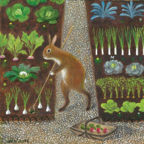 "Fine Art Print of an Original Animal Painting: ""The Gardener"""