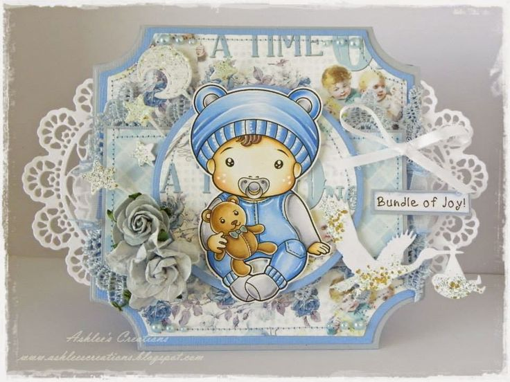 From our Design Team! Card by Ashlee Bellinger featuring Baby Luka and these Dies - Stork, Moon and Stars :-) Shop for our products here - shop.lalalandcrafts.com Coloring details and more Design Team inspiration here - http://lalalandcrafts.blogspot.ie/2015/01/inspiration-monday-one-for-boys.html