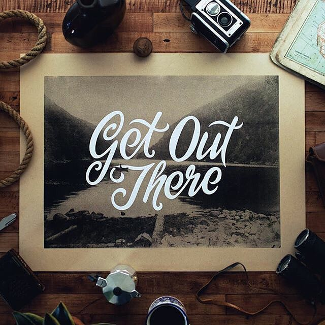 Get out there by @nicholasmoegly --/- Daily typography love on typostrate.com and on instagram @typostrate --\- #typostrate.com #typeinspiration #typographic #showusyourtype #lettering #theligaturecollective #thefinelab #faded #justmytype #goodtype #illustration #design #trippy #stoned #typespot #sketch #pointedpen #calligratype #moderncalligraphy #handtype #handmadefont #prettycalligraphy