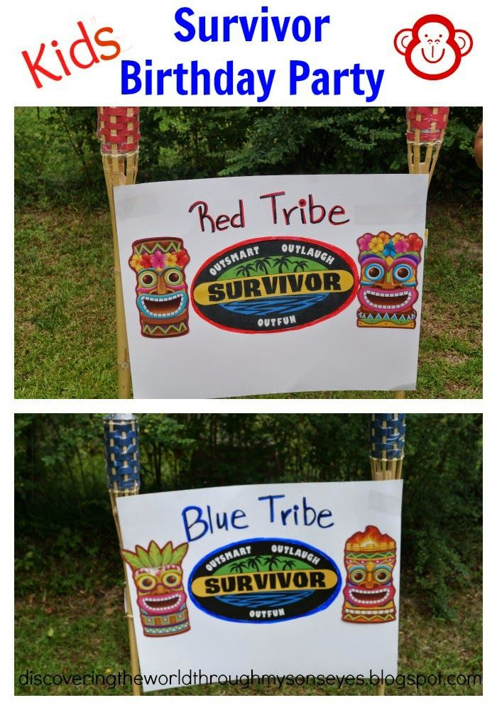 Kids Survivor Themed Birthday Party