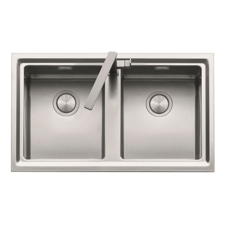 Double Bowl Sink with Taphole, Overflow and Designer Concealed Waste Covers