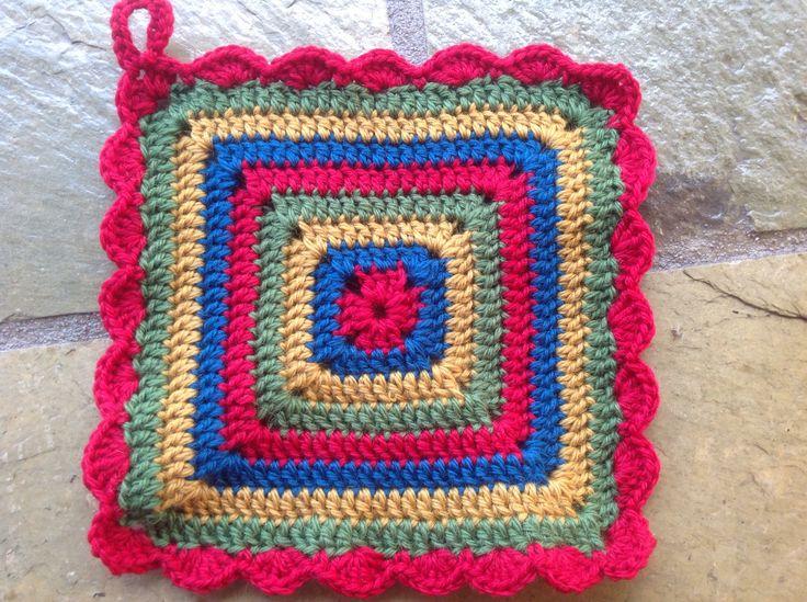 Crochet Pot Holder pure wool