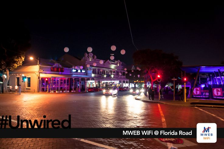 Durban's iconic Florida Road – a bustling row of cafes, restaurants, clubs and hotels – framed within historical Edwardian structures, has become the first of many urban streets to be lit up by super-fast WiFi.
