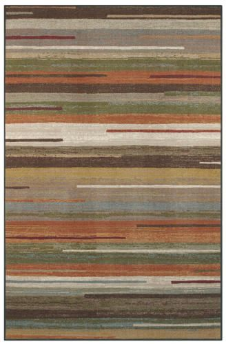 4x6' Declan Multi Area Rug - Tones of brown, cream, green and burnt orange keep with a neutral fall color pallet making a perfect addition to any space with a contemporary style. Machine Woven.