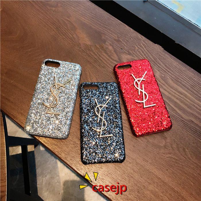 イブサンローラン iphoneX カバー ysl ケース iphone8 フラッシュパウダー 高品質