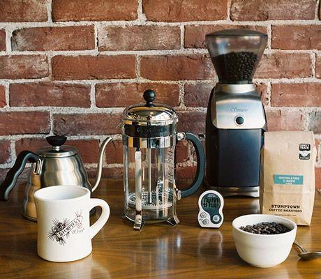 "Press Pot – Stumptown Coffee Roasters instructions.  Stumptown redefines ""Coffee Snob""."