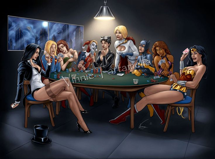 DC Girls Poker Night by Vinnie Tartamella That would be the most epic strip poker game of all time.