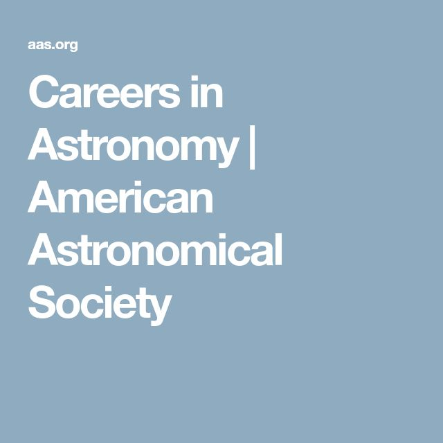Careers in Astronomy | American Astronomical Society