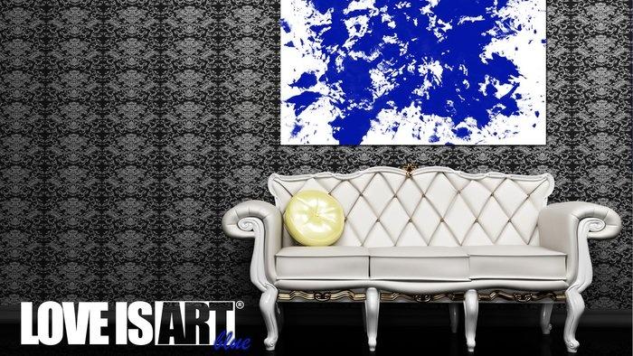 Blue Love is Art Kit... Very cool ideaCanvas