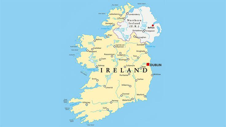 Mapa hidrográfico de Irlanda