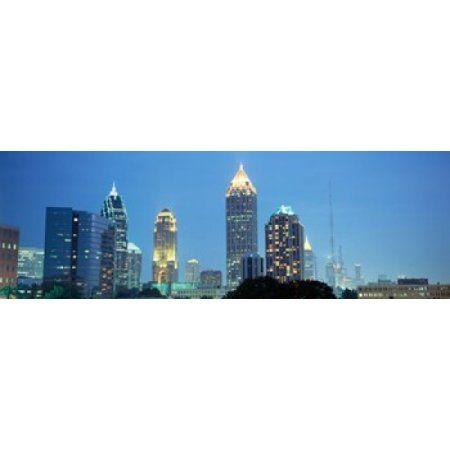 Skyline Atlanta GA USA Canvas Art - Panoramic Images (36 x 12)