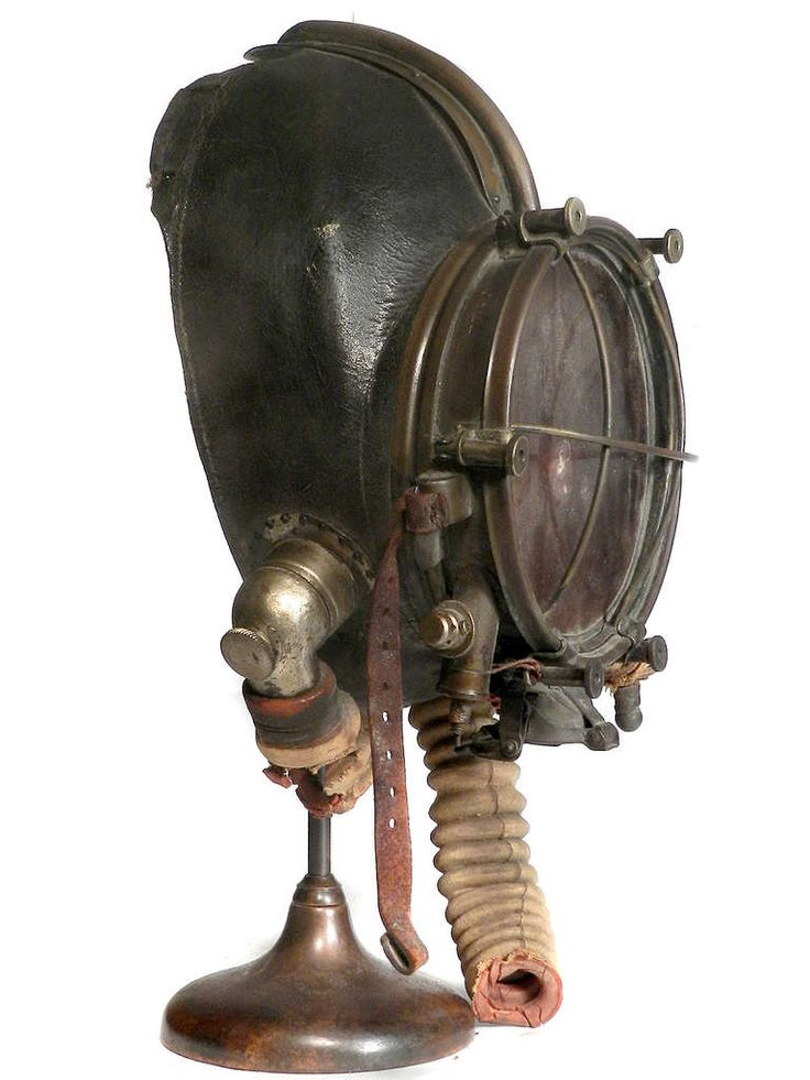 Very Rare and Important 1910 Drager Smoke Mask | From a unique collection of antique and modern scientific instruments at https://www.1stdibs.com/furniture/more-furniture-collectibles/scientific-instruments/