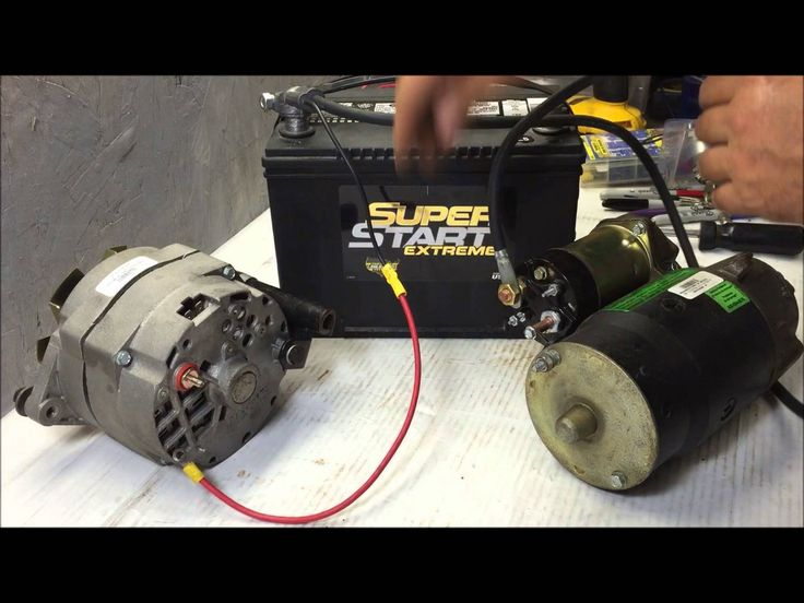 charging system wire up using GM 3 wire internally regulated alternator | preparation | 자전거