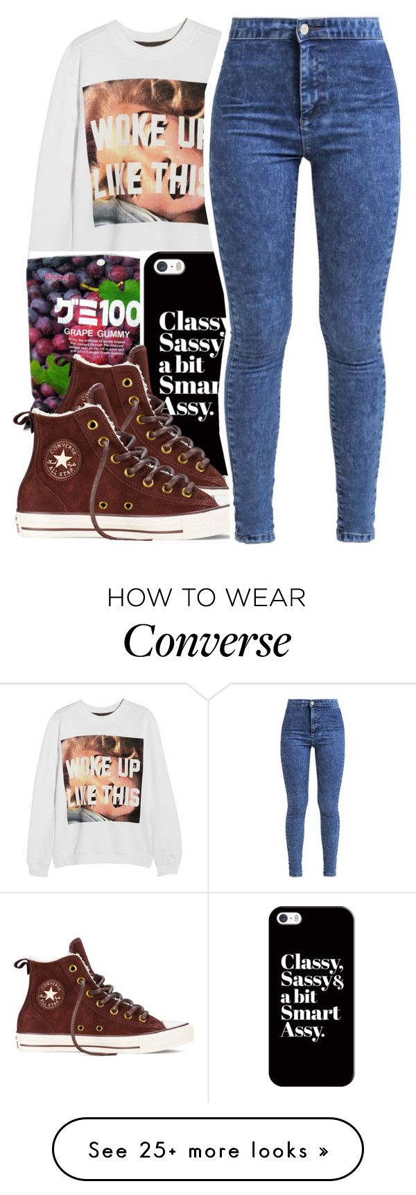 """""""Untitled #185"""" by mxdnightziam on Polyvore featuring moda, Untitled & Co, Casetify, Converse, Miss Selfridge, outfit, denim, converse, Beyonce i BeyHive"""