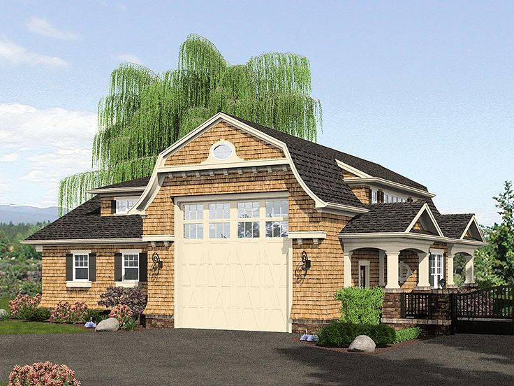 34 best garage plans with gambrel roofs images on for House plans with drive through garage