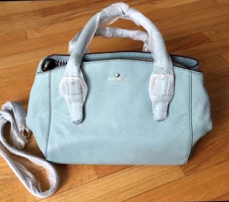 KATE SPADE NWT Dusty Blue Sloan Brighton Park LEATHER Satchel Purse Bag FREE SH.  | eBay