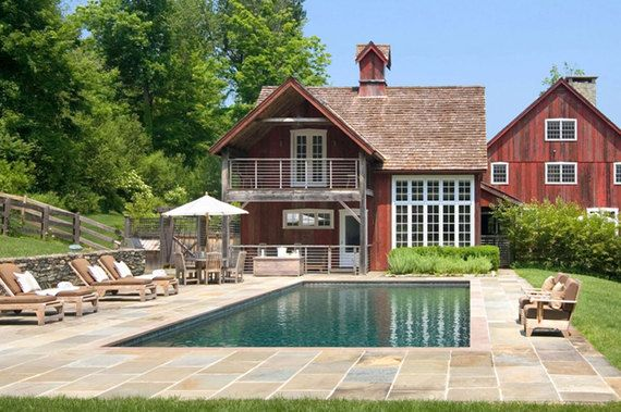 The pool is great...but the barn-style poolhouse is even better.