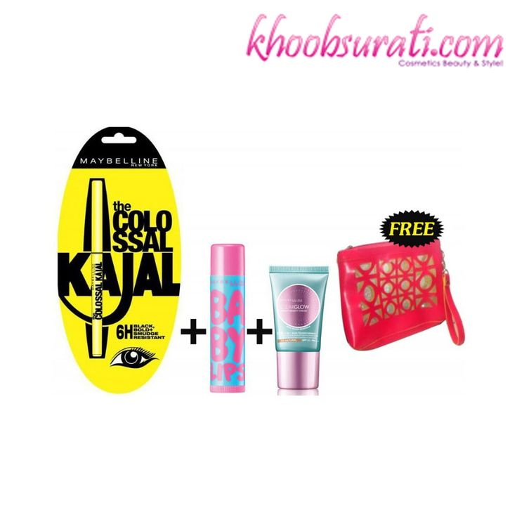 Maybelline Make-up Essentials (Make-up Pouch Free) http://khoobsurati.com/deals/maybelline-make-up-essentials-make-up-pouch-free