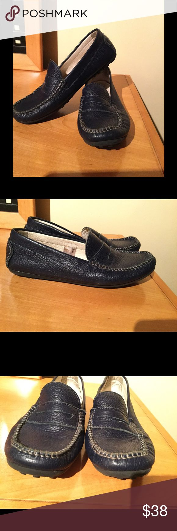 Primigi navy blue leather loafers Very good condition , no issues lots of life left on them , Sz 38 ,Sz 7 US . ❌Price firm Primigi Shoes Flats & Loafers