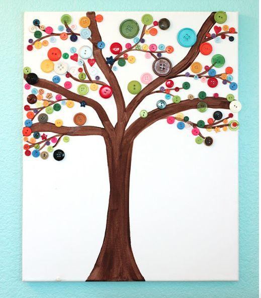 DIY Button Art For Kids