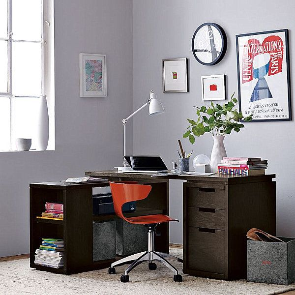 modern design to your space with writing desk and abudant space for a laptop desk small computer