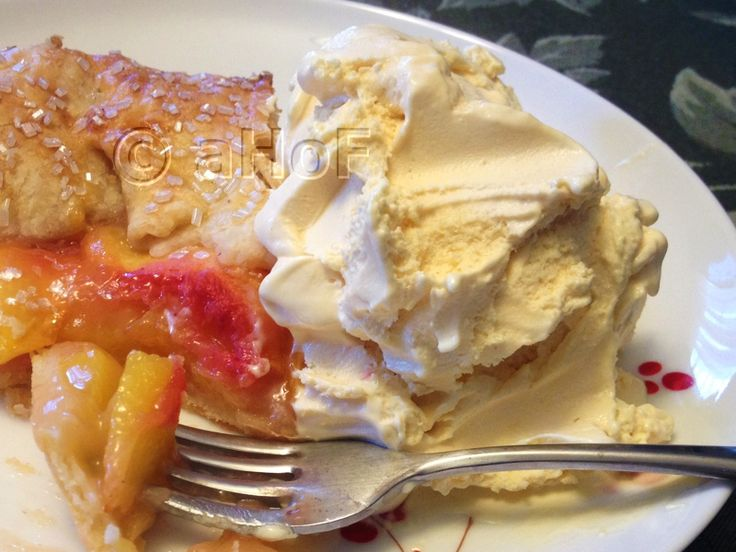Peach Cheesecake Ice Cream - served with a Peach Galette. Decidedly ...