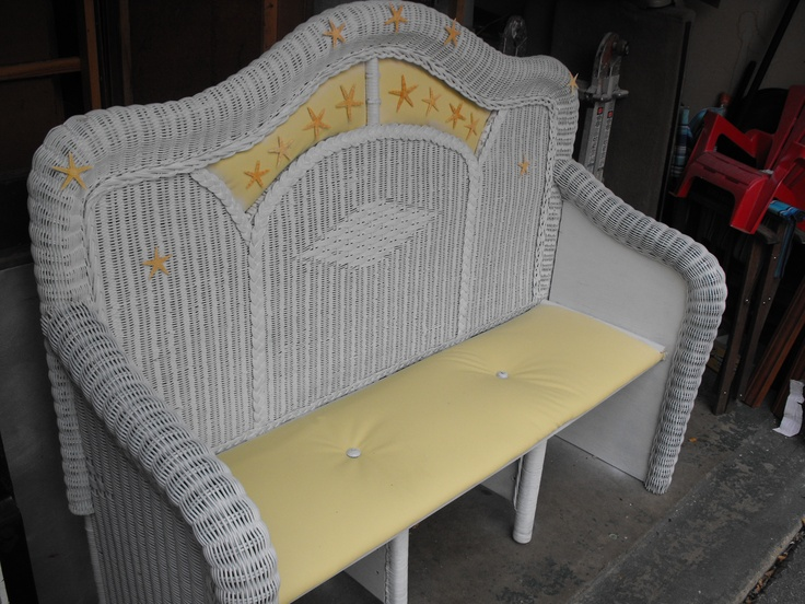 Good Old Wicker Headboards Make A Nice Bench. Ben, This Is What I Want To