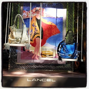 It's clearly Summer in the window display of our Neighbour @Lancel #fashion #bags
