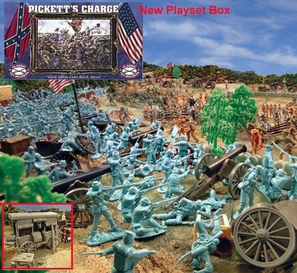 Giant Pickett's Charge Playset --- 540 pieces --- (s&h $30) <font color=#CC0000>(54mm) </FONT>, 54mm Toy Soldiers+Civil War Figures (54mm) 54mm Toy Soldiers+Civil War Accessoires (54mm) 54mm Toy Soldiers+Civil War Artillery and Wagons (54mm) 54mm Playsets Manufacturers 54mm+CLASSIC TOY SOLDIERS --- CTS