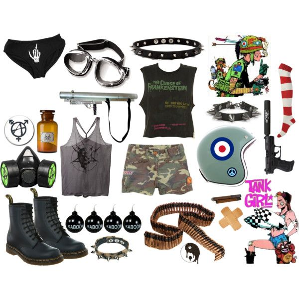 """TANK GIRL"" by grungewhore on Polyvore"