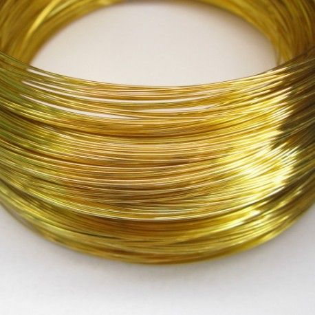 Drut złoty/mosięzny 0,4mm do wire wrapingu 1mb
