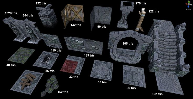 Another modular dungeon tileset - polycount