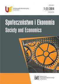 Społeczeństwo i Ekonomia. 1 / red. nauk. Jędrzej Chumiński