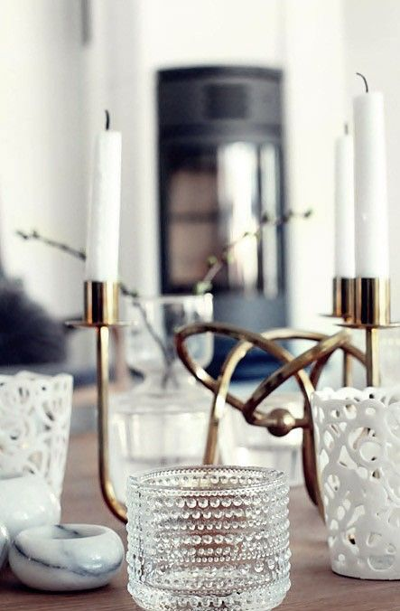 wonderful moodsetter for a dinner party...the twisted candlestick holder  could be elegant or more casual, depending on how table is set