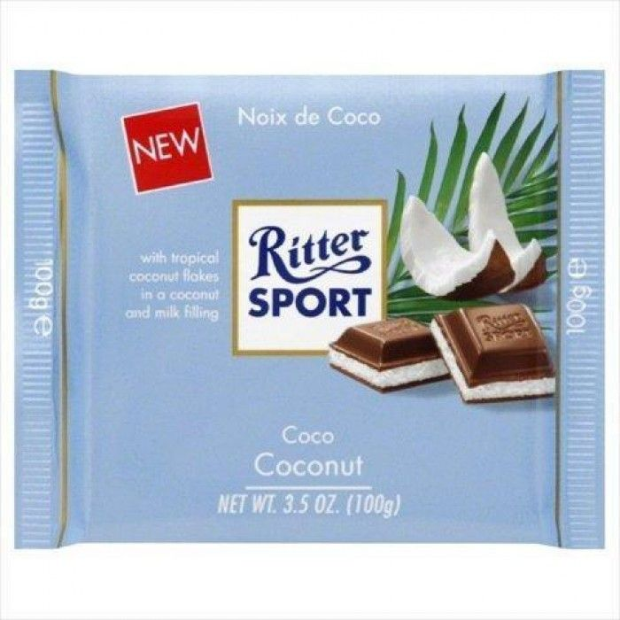 ritter sport chocolate bar coconut 3.5 oz 6   RIPON GOOD has selling ritter sport chocolate bar coconut 3.5 oz 6 (pack of 12) product with good quality at best price. RIPON GOOD ritter sport chocolate bar coconut 3.5 oz 6 (pack of 12) has one of the most popular and high rank product under grocery & gourmet food category. Many customers purchased RIPON GOOD ritter sport chocolate bar coconut 3.5 oz 6 (pack of 12) product and we received positive feedback from most of our customers.