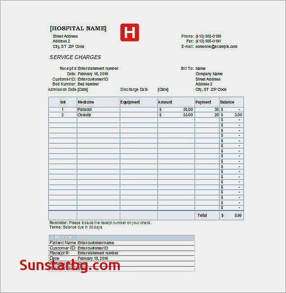 Bill Format In Word Free Download For Invoice Template