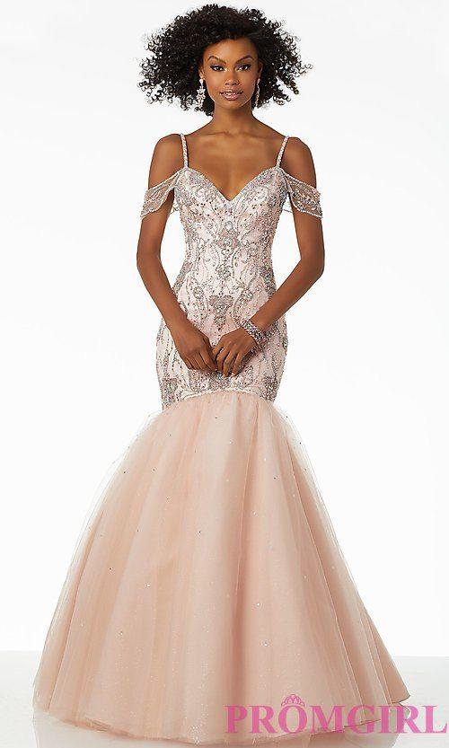 Long Mermaid Style Mori Lee Prom Dress with Beading