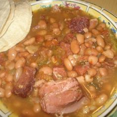 "This is an authentic recipe right out of Mexico ""Frijoles Charros"" Mexican Cowboy Beans, These beans are delicious you can eat them right out of the bowl with hot buttered tortillas, and some hot salsa. Yum Yum. They are a meal by themselves. They cook for about 5/6 hours but the time is well worth it. You can serve along side Mexican rice, and add some Pico De gallo or Salsa with the tortillas. You need not make any meat dish with the Charro beans as they are loaded with meat. Delicious ..."