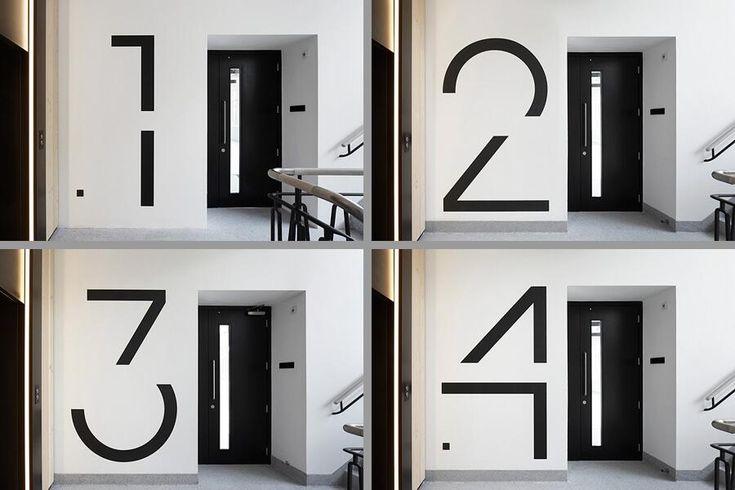 Bespoke floor numbers – by EIB