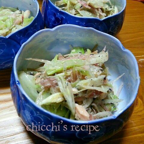 「みょうがのサラダ」みょうがを沢山頂いたので作りました(^^)/【楽天レシピ】