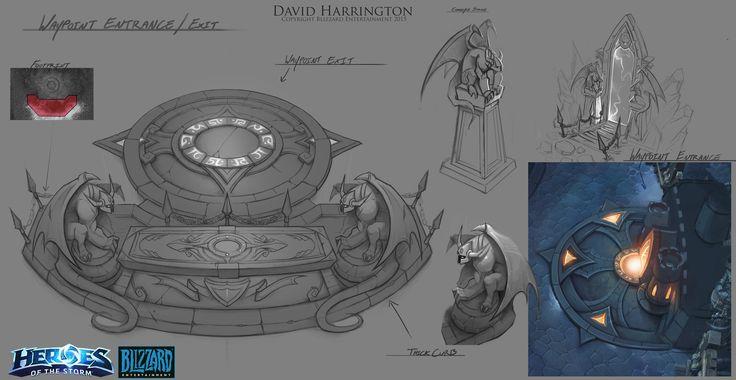 Heroes Of The Storm - Towers Of Doom Wayopoint Portal, David Harrington on ArtStation at https://www.artstation.com/artwork/VLdRb