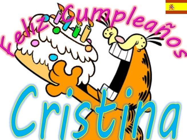 Feliz cumpleaños cristina - Imagui