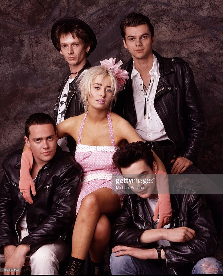 English pop group Transvision Vamp with singer Wendy James (centre), London…