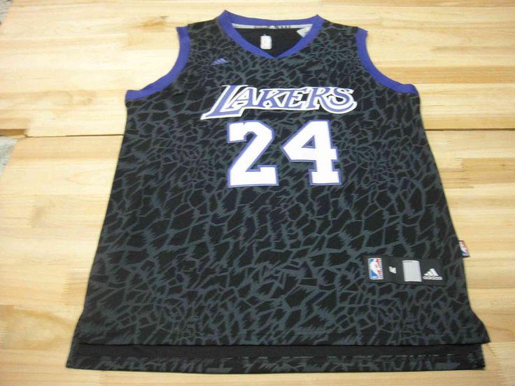 Men's NBA LA Lakers #24 Bryant Crazy Light Swingman Black Jersey01