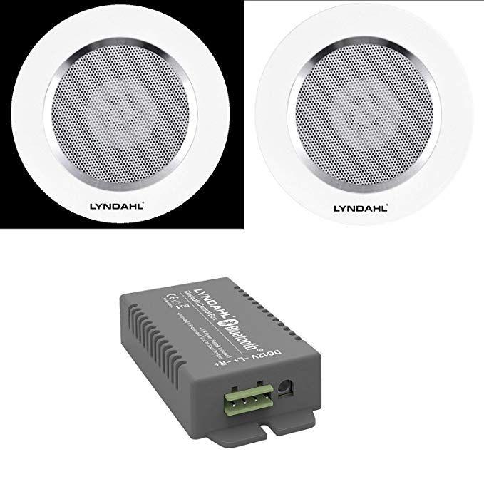 Lyndahl Lautsprecher Set Bluetooth 4 Kanal Verstarker Cs200bt Amp Und 2 Wege Lautsprecherpaar Cs1 Mit Bildern Deckenlautsprecher Einbaulautsprecher Lautsprecher