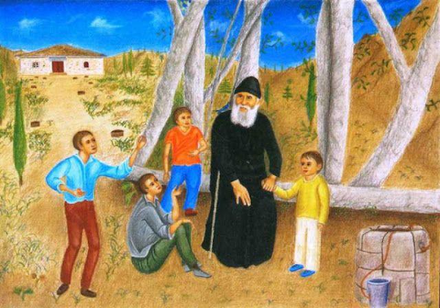 Παναγία Ιεροσολυμίτισσα : Άγιος Παΐσιος ο Αγιορείτης: Άρρωστα παιδάκια.